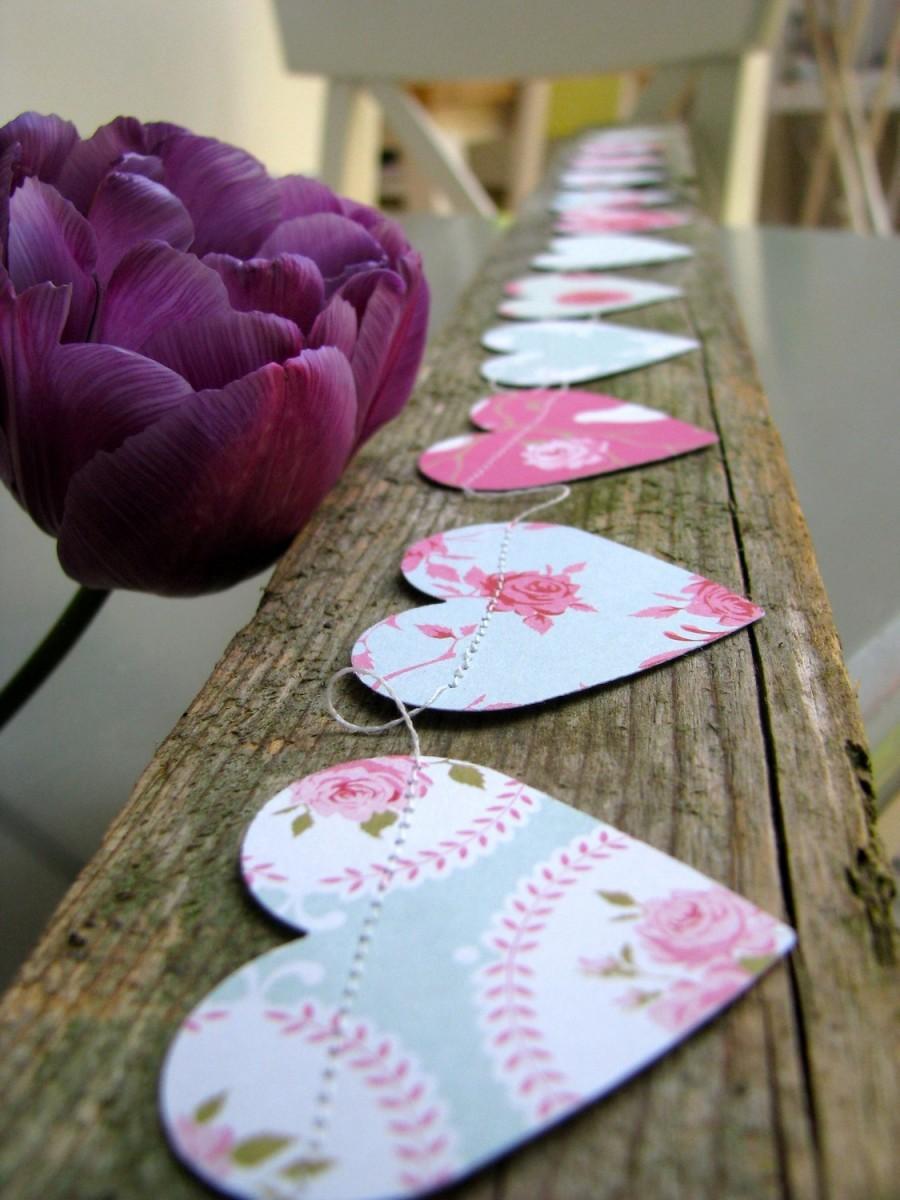 duck egg blue shabby. Duck Egg Blue, Rose, Roses, Floral Garland, Rustic Wedding,romantic Wedding,dusty Blue Wedding,wedding French Country, Shabby Chic A