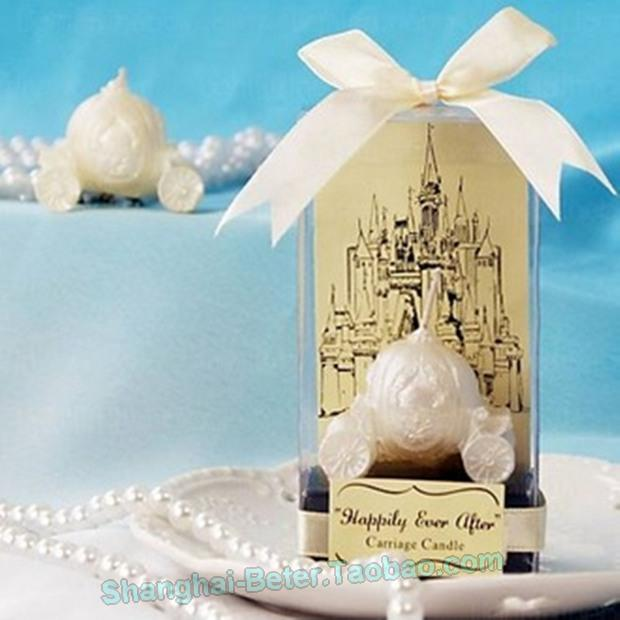 Disney Fairy Tale Happily Ever After Carriage Candle Wedding Favors BETER LZ013 B