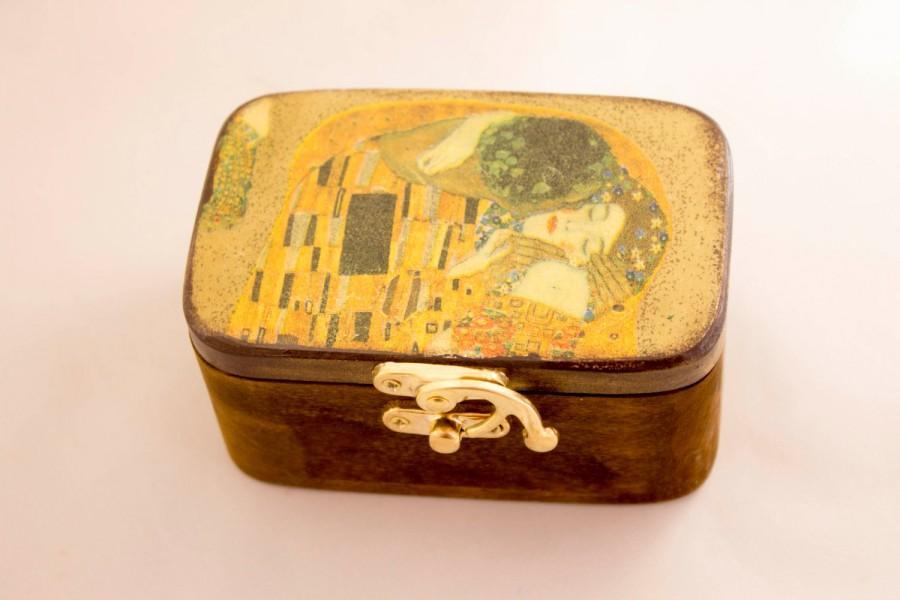 Klimt The Kiss Wedding Ring Box Personalized Ring Bearer Box