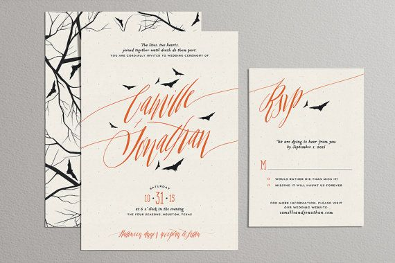 printable wedding invitation set halloween wedding invites off