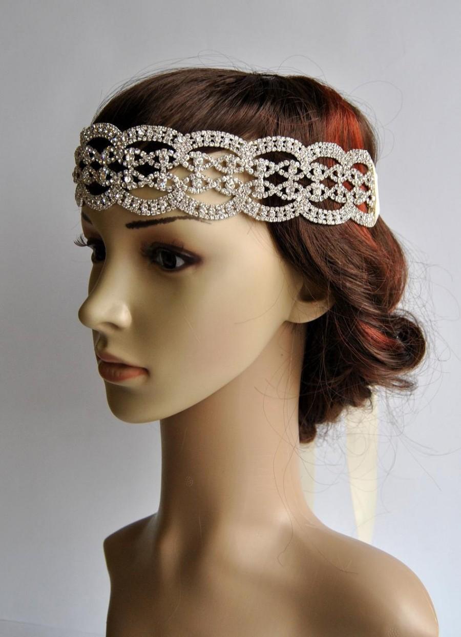 5c865aef9cb24 Glamour Rhinestone Flapper Gatsby Headband