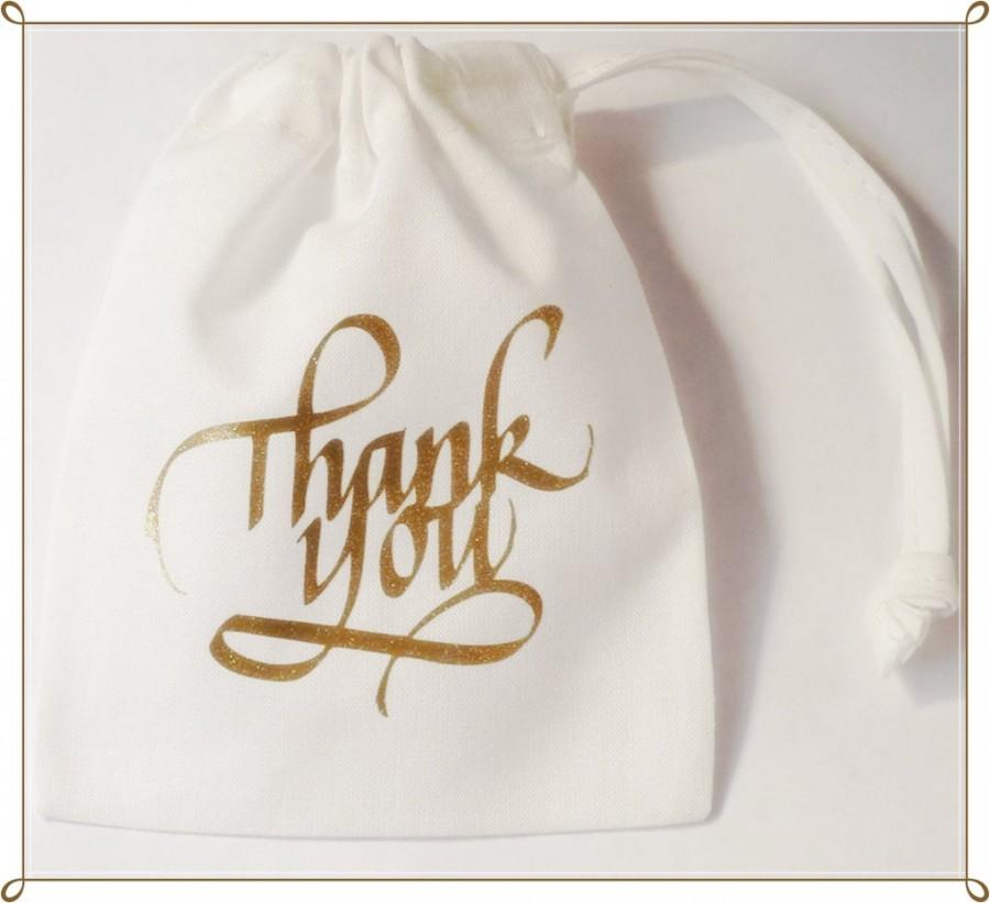 Wedding Favour White Glitter Thank You Gift Bag Bride Groom ...