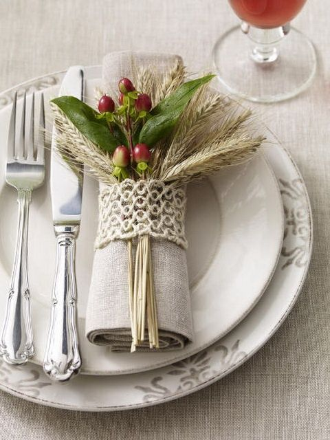 Wedding - Top 20 Lovely DIY Napkin Ring Ideas For Thanksgiving Table