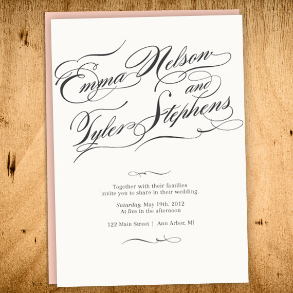 Wedding - Vintage Wedding Invitation -PRINTABLE