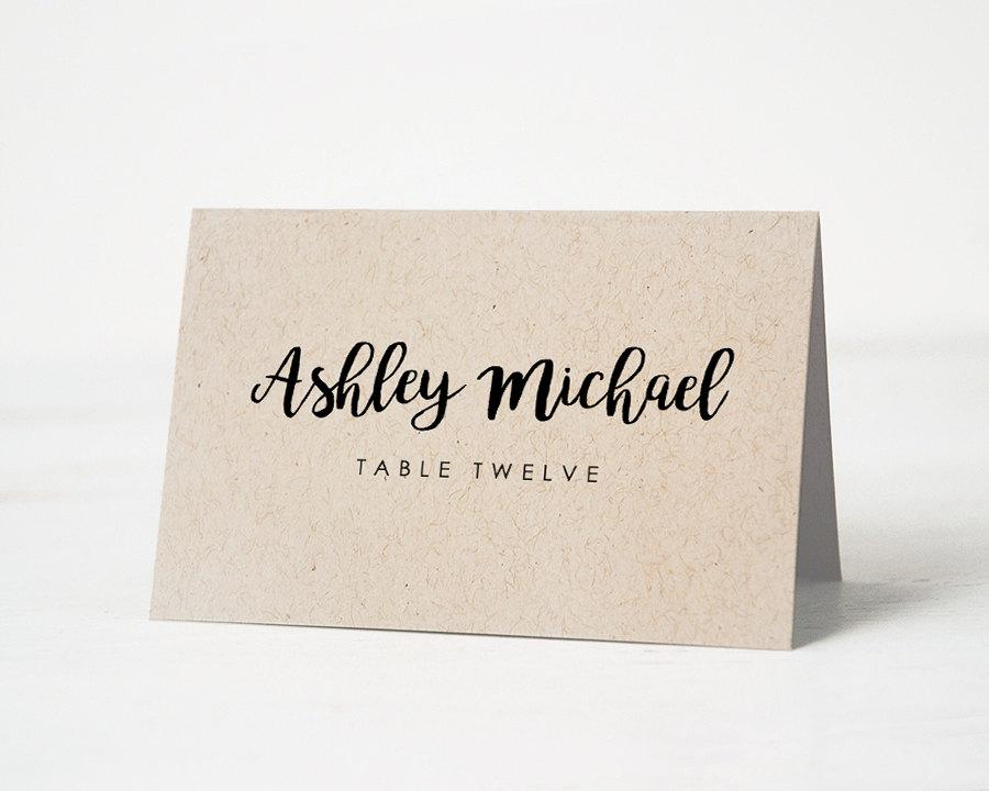 Printable Place Card Template Wedding Place Cards Escort Card - Wedding name tag template