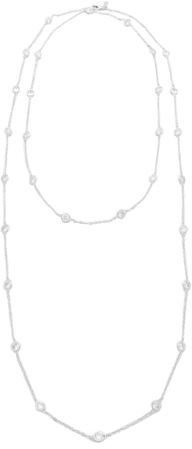 Mariage - Kenneth Jay Lane Large CZ Stations Necklace
