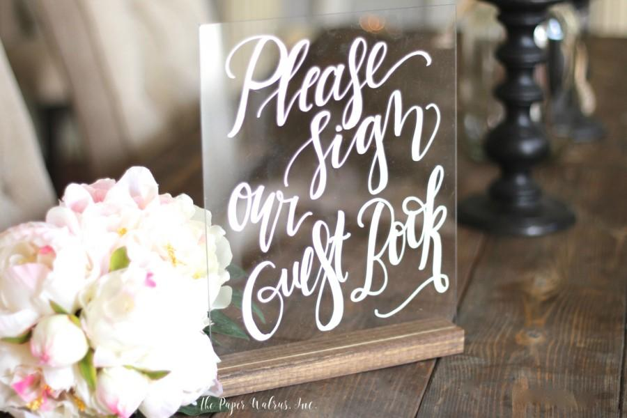زفاف - Custom Calligraphy Acrylic Sign, Wedding Sign, Guest Book Sign, Wedding Menu, Photo Prop Sign, Rustic Weddings, Vintage Wedding