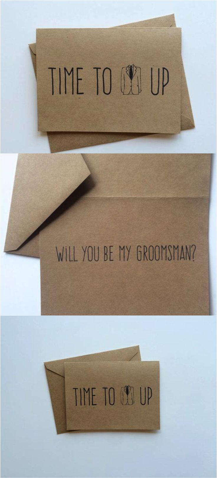 Свадьба - Time To Suit Up Groomsmen Cards - Set Of 5 Made On Hatch.co By Be Timeless