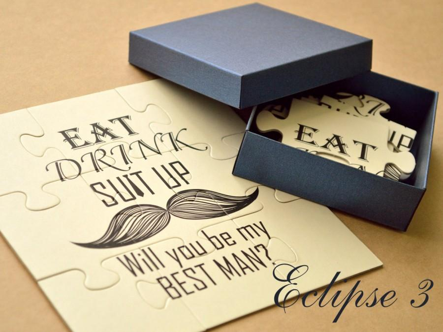 Will You Be My Best Man Invitation Puzzle Ask Card Groomsman Usher