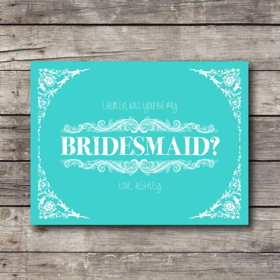 Mariage - Will you be My Bridesmaid - Customizable - Digital Ready to Print