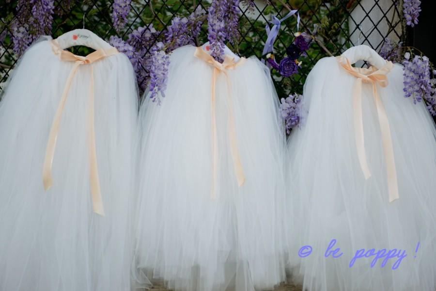 Mariage - FULL LEGTH WHITE tutu skirt - 8 layers sewn tutu - Custom - White tulle skirt - Adult tutu - Girl white tulle skirt - Flower girl - Ballerin
