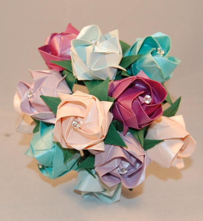 Alternative wedding roses valentines origami rosespaper roses alternative wedding roses valentines origami rosespaper roses custom colour paper flowers paper anniversary mightylinksfo