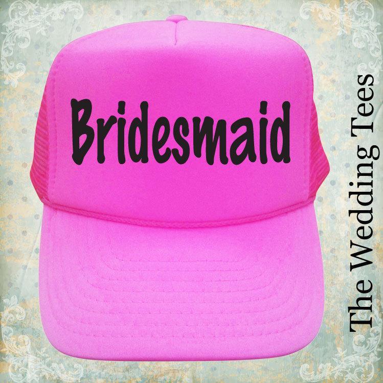 Mariage - Bridesmaid Caps. Bridal Party Caps. Bride Hats. Bachelorette party caps. Team Bride Cap. Mrs Caps