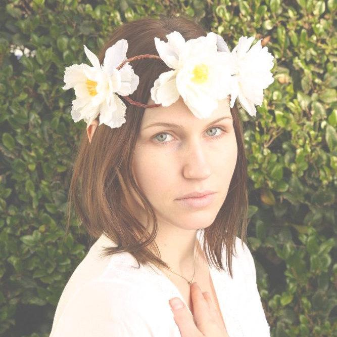Wedding - Hawaiian flower crown - wedding hair accessories - floral headpiece - flower headband - Wedding wreath - Bridal headpiece