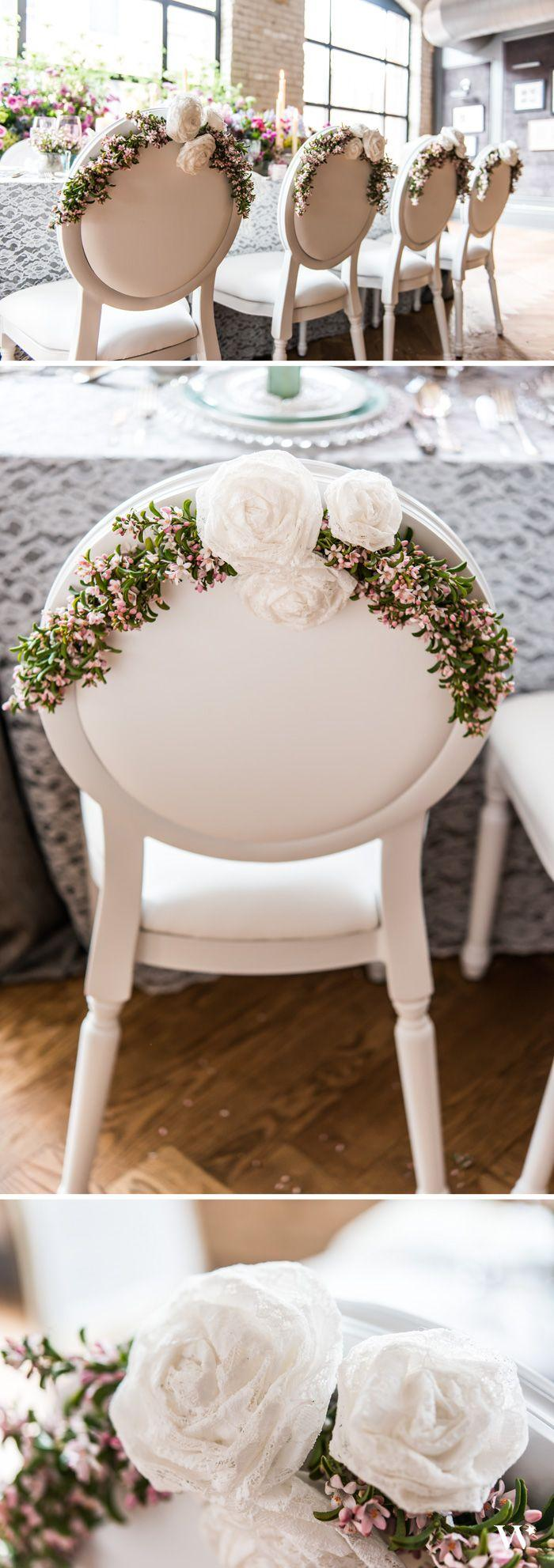 Wedding - Decorative Rolled Fabric Lace Flowers - Medium