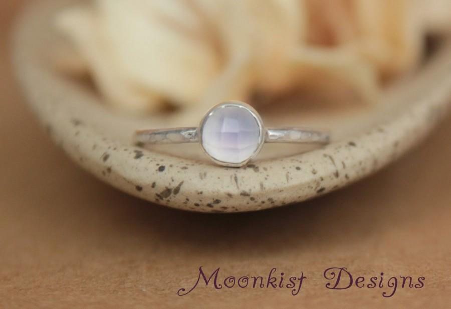 Mariage - Lavender Moon Quartz Promise Ring - Rose Cut Bezel-Set Moon Quartz Solitaire in Sterling - Bridesmaid Ring - Lavender Wedding Jewelry