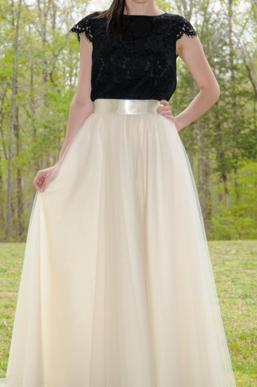 Mariage - Maxi Circle Tulle Skirt,Premium Quality Tulle,Soft Tulle skirt,Adult tulle skirt,custom made tulle skirt from my FabBoutique!