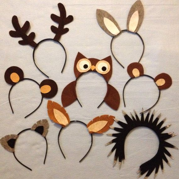 16 Woodland Wild Animals Nature Theme Forest Ears Headband Birthday Party Favors Supplies Wholesale Bulk Lot Kid Children Child Adult Baby