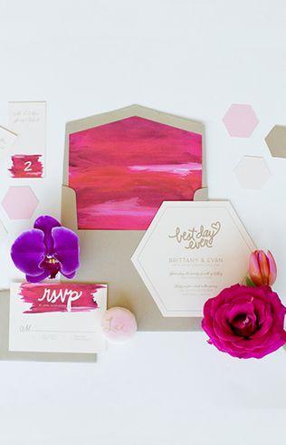 زفاف - Geometric Pink Wedding Inspiration