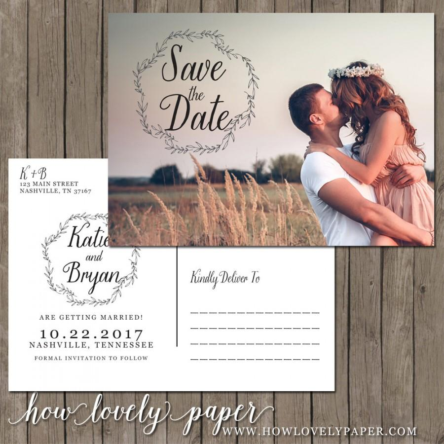 Wedding - Printable Save the Date Postcard - the Allie Collection