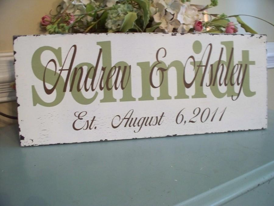 Hochzeit - Wedding Signs,Personalized Wedding/Family name Sign..What a Beautiful sign to display on you Wedding Day.. Great Wedding Gift..