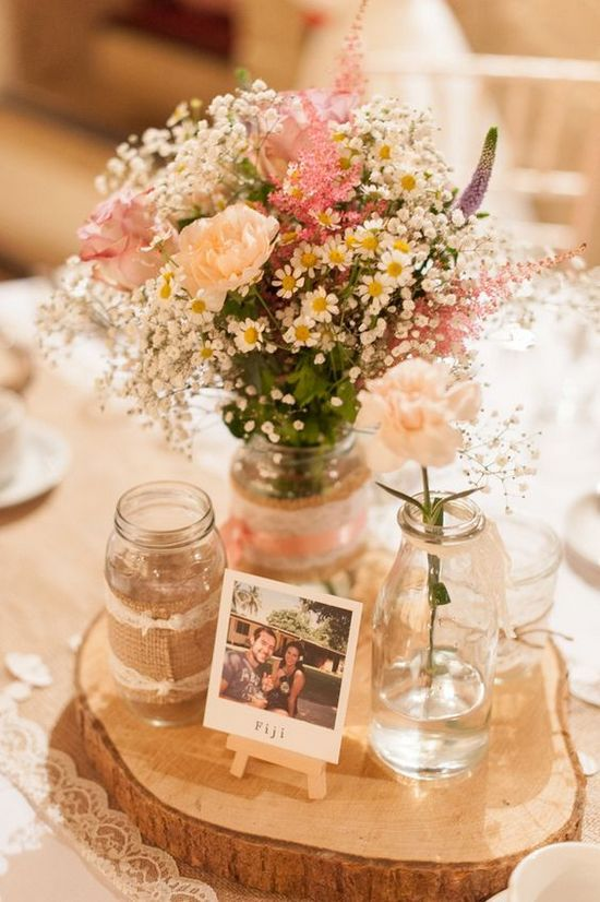 Rustic Wedding Centerpieces : Country rustic wedding centerpiece ideas