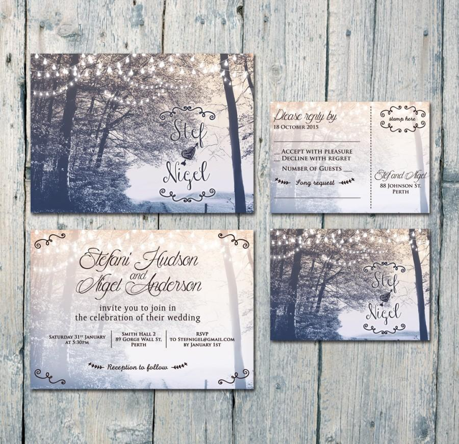 Mariage - Digital - Printable Files - In the Backyard Wedding Invitation and Reply Card Set - Wedding Stationery - ID390