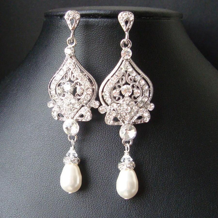 vintage bridal earrings chandelier wedding earrings