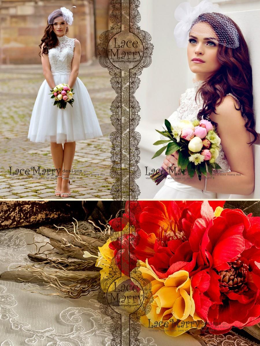Custom Short Wedding Dress Knee Length Wedding Dresses Short Boho