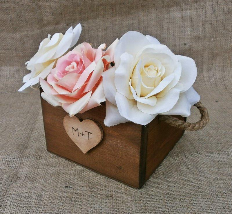 Custom Wedding Decor Party Centerpiece Planter Box Decoration Rustic Country Garden