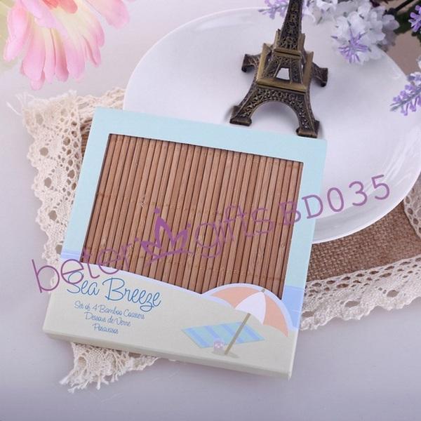Свадьба - 创意新娘答谢礼物高端酒店供应 夏日轰趴派对BD035日式风格竹杯垫