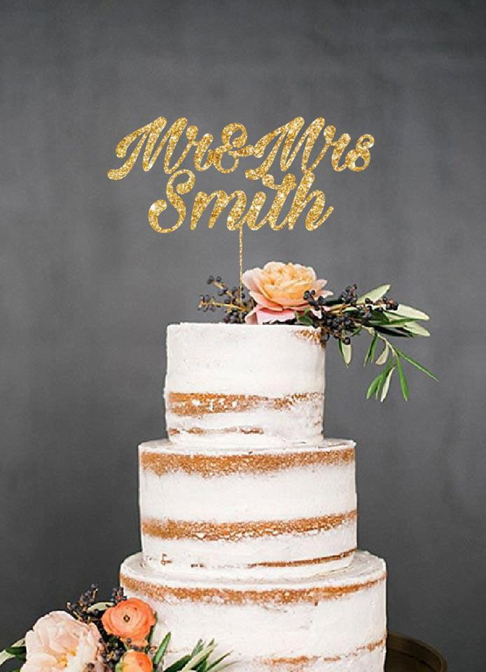 Mariage - Mr and Mrs, Wedding Cake Topper, Engagement Cake Topper, Bridal Shower Cake Topper, Anniversary Cake Topper, Birthday Cake Topper