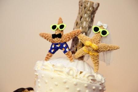 Hochzeit - Starfish Wedding Cake Topper