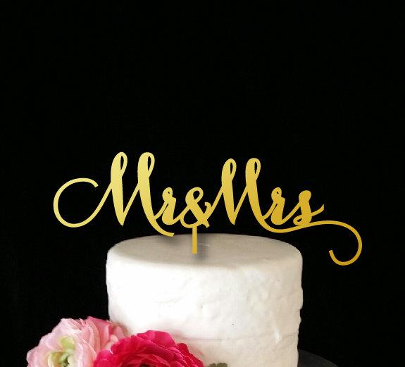 Hochzeit - Mr & Mrs Cake Topper