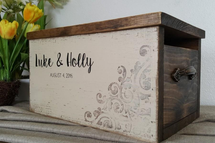 Rustic Card Box Wedding Card Box Personalized Wedding Card Box