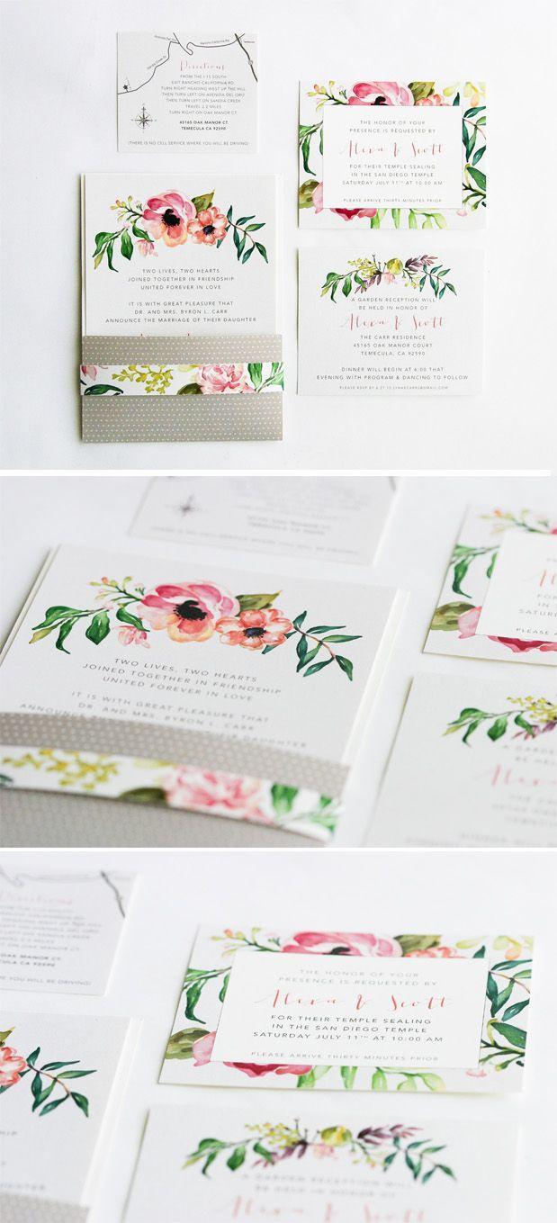 زفاف - Floral Wedding Invitations