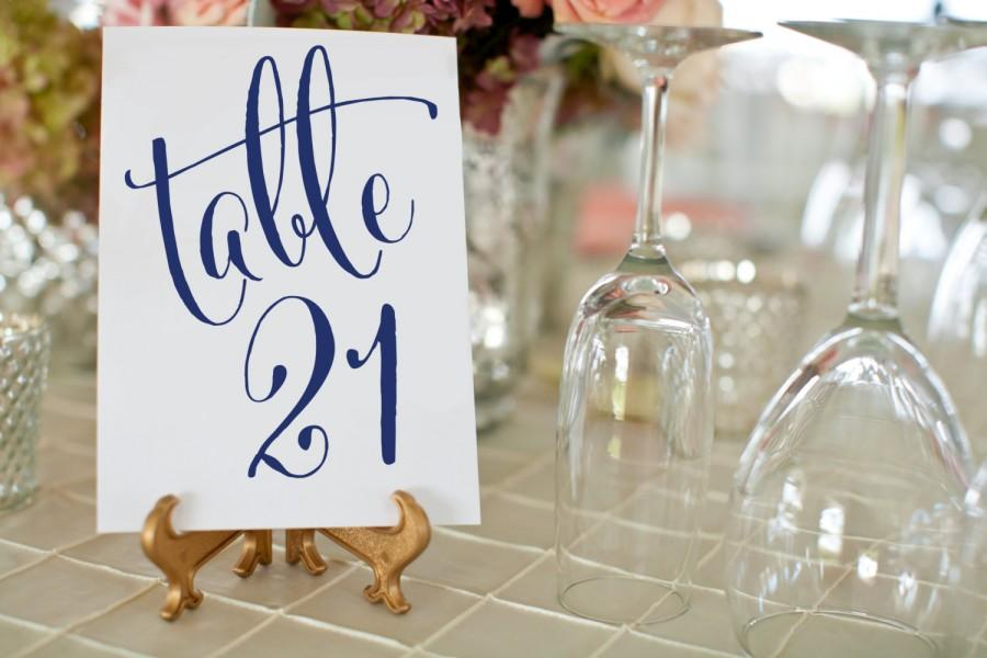 1 30 navy wedding table numbers printable wedding table numbers