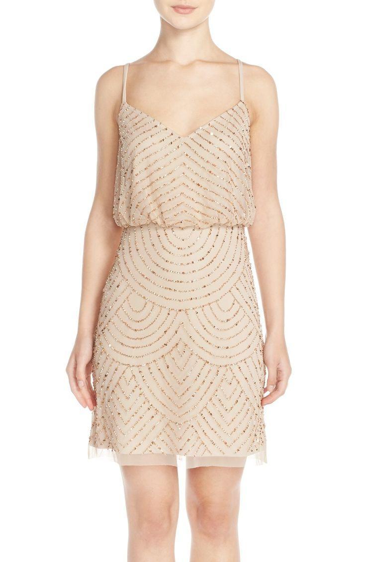 Brautjungfer - Sequin Mesh Blouson Dress #2518109 - Weddbook