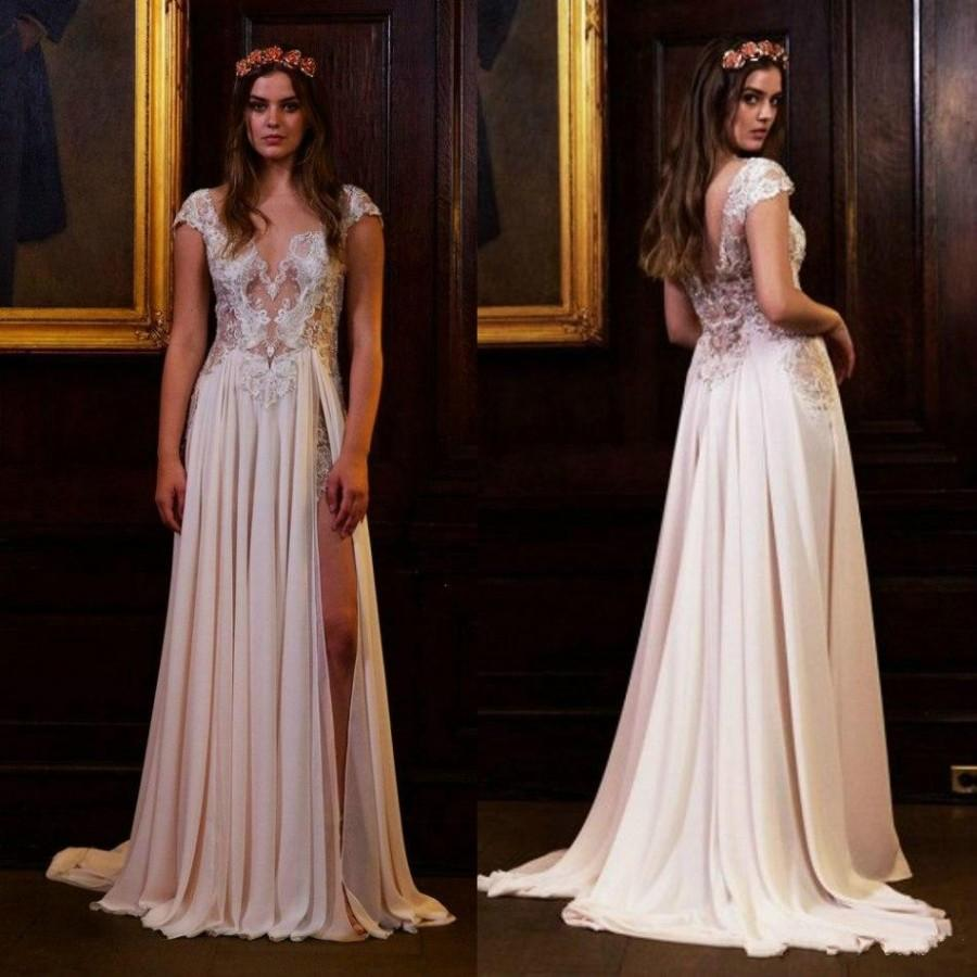 Affordable Wedding Gowns Online: Exquisite 2016 Lace Berta Sequins Wedding Dresses Sheer