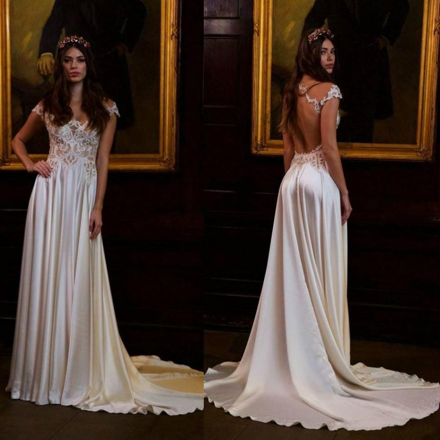 Newest berta 2016 wedding dresses cheap short sleeve sheer for Long sleeve plus size wedding dress
