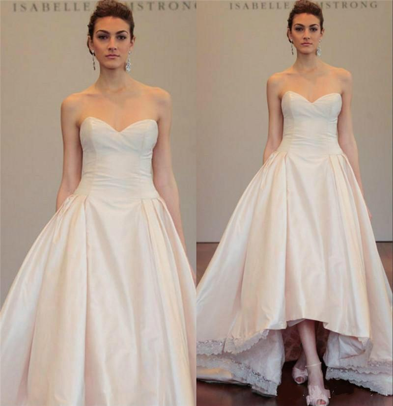 زفاف - Charming High Low Wedding Dresses Taffeta 2016 Cheap A Line Sweetheart Plus Size Garden Country Ball Bridal Gown Vestido De Novia Online with $105.53/Piece on Hjklp88's Store