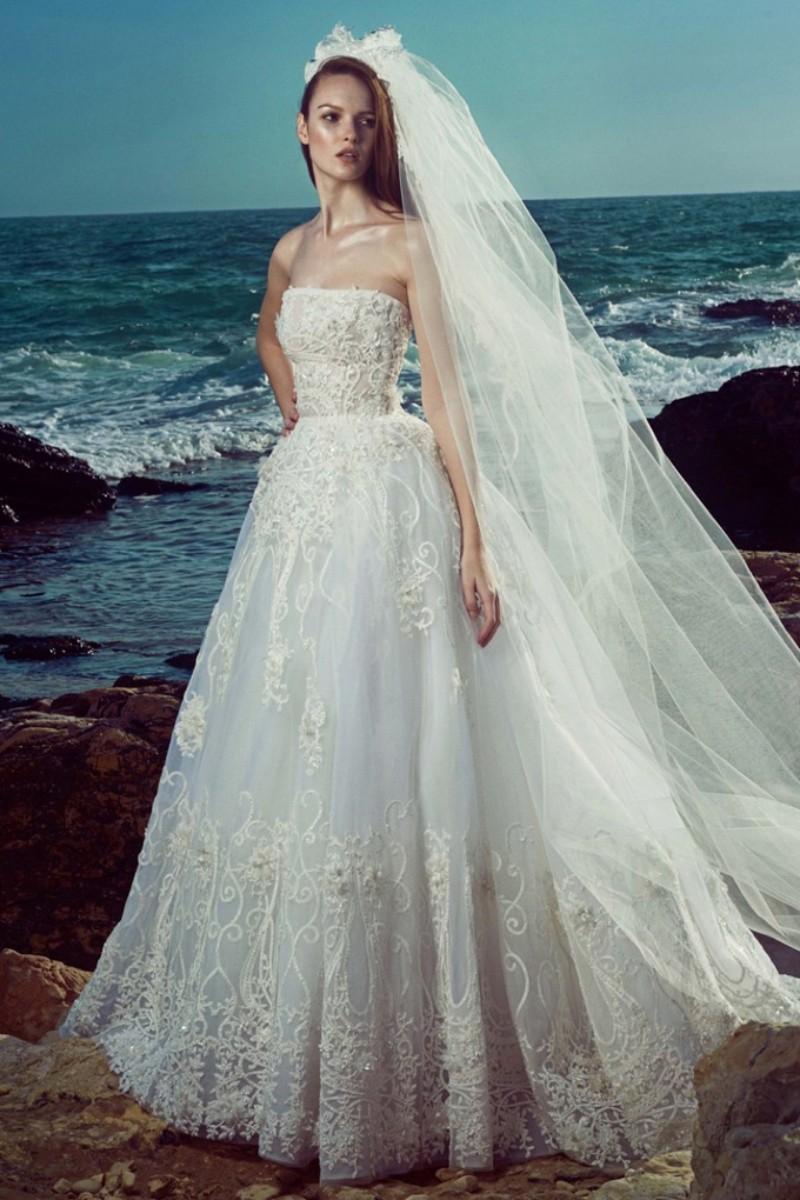 Beautiful Zuhair Murad Wedding Dresses 2016 Strapless Sleeveless