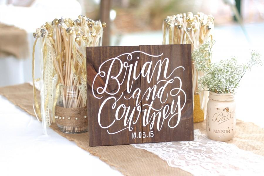 Personalized Wedding Sign Rustic Wooden Weddings Wedding