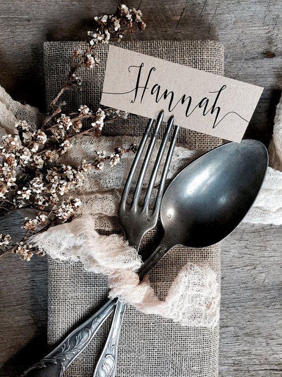 زفاف - Mini Wedding Place Cards, Wedding Place Cards, Small Place Cards, Place Cards, Calligraphy Place Cards, Inexpensive Place Cards, Wedding