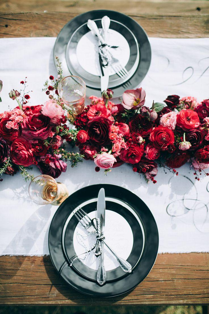 Wedding - Black Tie And Berry-Toned Styled Shoot On A Cuddly Animal Farm
