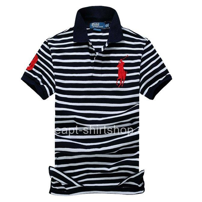 new arrival release date super cheap Mens Polo Ralph Lauren Black/White Stripe Shirts [Polo Ralph ...