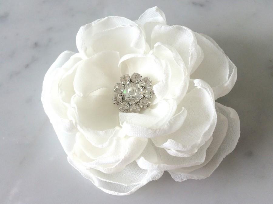Ivory Hair Flower Bridal Comb Wedding Accessories Head Piece White