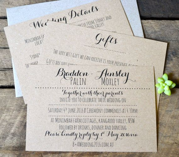 زفاف - Rustic Wedding Invitations, Modern Wedding Invitations, Wedding Invitation Suite, Wedding Invitations, Kraft Wedding Invitations, Kraft