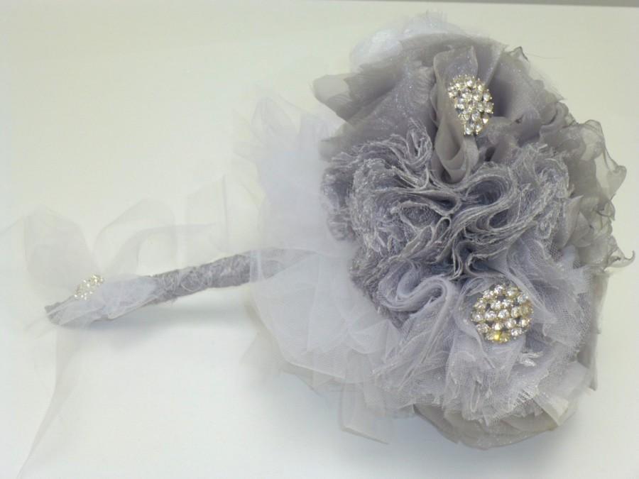 Mariage - Unique,Handmade wedding Bouquet ,Fabric Bridal Bouquet,- Bridal Bouquet,