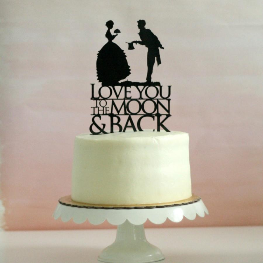 Wedding Cake Toppers Vintage: Silhouette Wedding Cake Topper